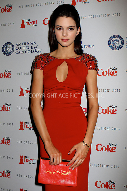 WWW.ACEPIXS.COM....February 6 2013, New York City....Kendall Jenner arriving atThe Heart Truth's Red Dress Collection during Fall 2013 Mercedes-Benz Fashion Week at Hammerstein Ballroom on February 6, 2013 in New York City. ......By Line: Nancy Rivera/ACE Pictures......ACE Pictures, Inc...tel: 646 769 0430..Email: info@acepixs.com..www.acepixs.com