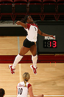 10 November 2005: Njideka Nnamani during Stanford's 3-0 win over Arizona State at Maples Pavilion in Stanford, CA.