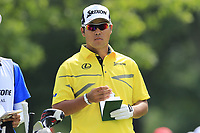 Hideki Matsuyama (JPN) on the 9th tee during Saturday's Round 3 of the WGC Bridgestone Invitational 2017 held at Firestone Country Club, Akron, USA. 5th August 2017.<br /> Picture: Eoin Clarke | Golffile<br /> <br /> <br /> All photos usage must carry mandatory copyright credit (&copy; Golffile | Eoin Clarke)
