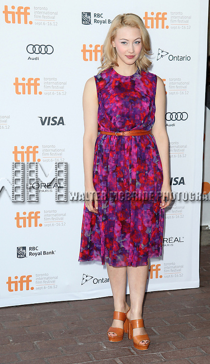 Sarah Gadon attending the The 2012 Toronto International Film Festival.Red Carpet Arrivals for Jason Reitman's Live Read of 'American Beauty' at the Ryerson Theatre in Toronto on 9/6/2012