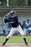 14 September 2009: Jason Holowaty of Great Britain is seen at bat during the 2009 Baseball World Cup Group F second round match game won 15-5 by South Korea over Great Britain, in the Dutch city of Amsterdan, Netherlands.