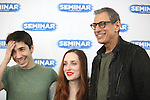 Justin Long, Zoe Lister-Jones & Jeff Goldblum .attending the 'SEMINAR' Come Meet The New Broadway Cast at the Roundabout Reharsal Studios in New York on 3/28/2012 © Walter McBride/WM Photography