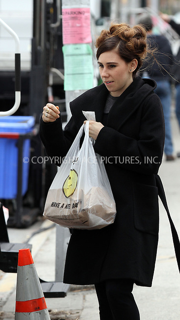 WWW.ACEPIXS.COM....April 23 2013, New York City....Zosia Mamet arrives at the set of the TV show 'Girls' on April 23 2013 in New York City......By Line: Zelig Shaul/ACE Pictures......ACE Pictures, Inc...tel: 646 769 0430..Email: info@acepixs.com..www.acepixs.com