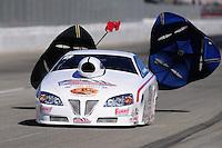 Nov 13, 2010; Pomona, CA, USA; NHRA pro stock driver Kurt Johnson during qualifying for the Auto Club Finals at Auto Club Raceway at Pomona. Mandatory Credit: Mark J. Rebilas-