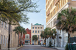 Architecture in the French Quarter in Charleston, South Carolina, USA
