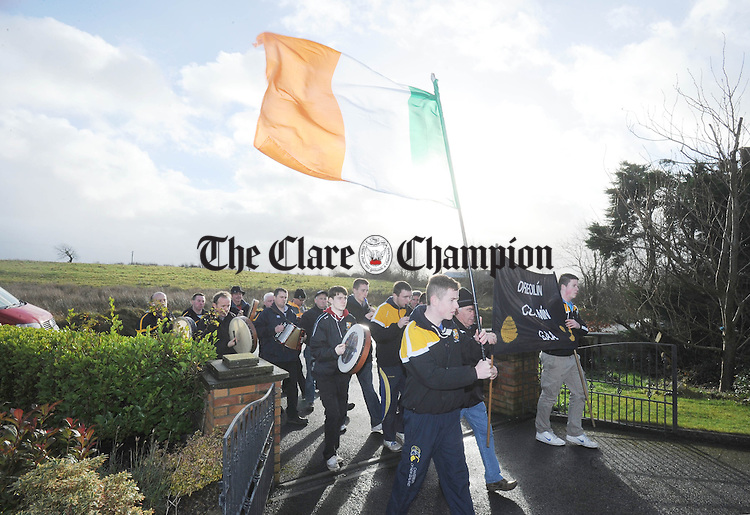 The wrenboys from Coolmeen GAA Club going door to door in Cranny on St Stephen's Day. Photograph by Declan Monaghan