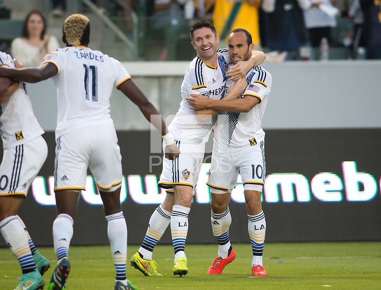 Carson, California - Sunday, November 9, 2014: The LA Galaxy defeated Real Salt Lake 5-0 in a Major League Soccer (MLS) playoff match at StubHub Center stadium.
