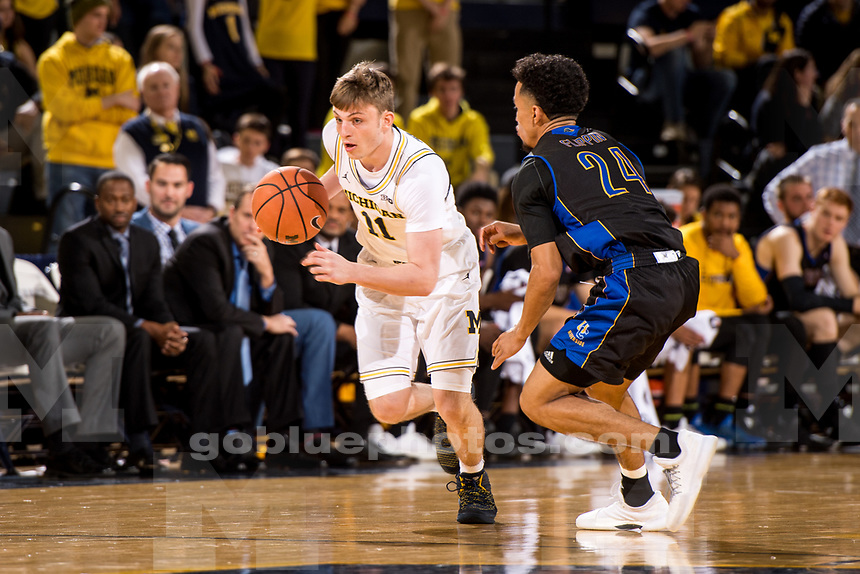 The University of Michigan men's basketball team defeats UC Riverside, 87-42, at Crisler Center in Ann Arbor, MI on November 26, 2017.