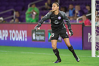 Orlando, FL - Saturday June 03, 2017: Aubrey Bledsoe during a regular season National Women's Soccer League (NWSL) match between the Orlando Pride and the Boston Breakers at Orlando City Stadium.