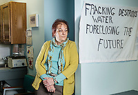 Fracking activist and member of What The Frack?! Sonia Skakich Scrima at her office in Aurora, Colorado, Wednesday, February 14, 2013. As fracking and natural gas exploration grows in Colorado, the fight over regulations and health questions is on the rise.<br /> <br /> Photo by Matt Nager