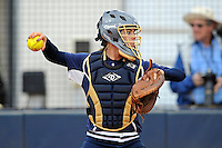 11 February 2012:  FIU's Megan Horne (00) throws to second as the University of Louisville Cardinals defeated the FIU Golden Panthers, 4-2, as part of the COMBAT Classic at the FIU Softball Complex in Miami, Florida.