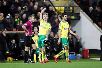 James Maddison of Norwich City celebrates getting the winning goal during Norwich City vs Millwall, Sky Bet EFL Championship Football at Carrow Road on 1st January 2018