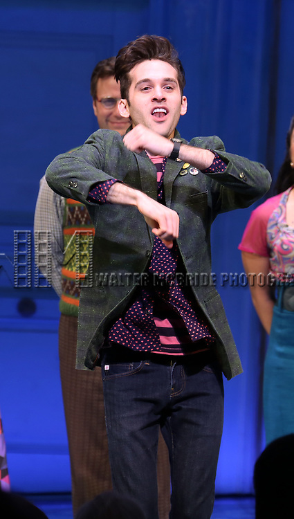 Adam Chanler-Berat during the Broadway Opening Night Performance Curtain Call for 'Amelie' at the Walter Kerr Theatre on April 3, 2017 in New York City