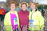 Former teacher Sheila Daly (centre) pictured with her past pupils Shelia Curtin and Catherine McSweeney taking part in the fun run organised by Scoil Mhuire agus Naomh Treasa in Currow last Friday.