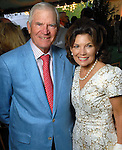 Dr. Walter McReynolds and Linda McReynolds at the Bayou Bend Garden Party  Sunday April 05,2009.(Dave Rossman/For the Chronicle)