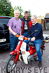 Noel Brosnan, Ger Sullivan and Tom Kelleher at the Mid Kerry Honda 50 run in Beaufort on Sunday