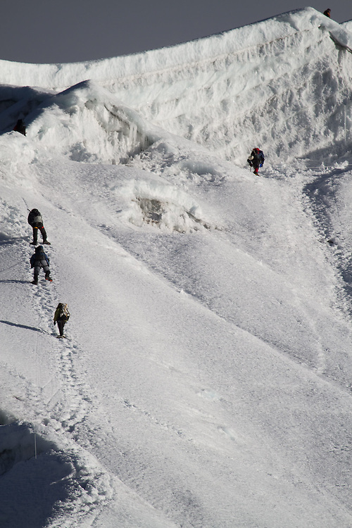 Climbers on Lobuche. Photo by Didrik Johnck.