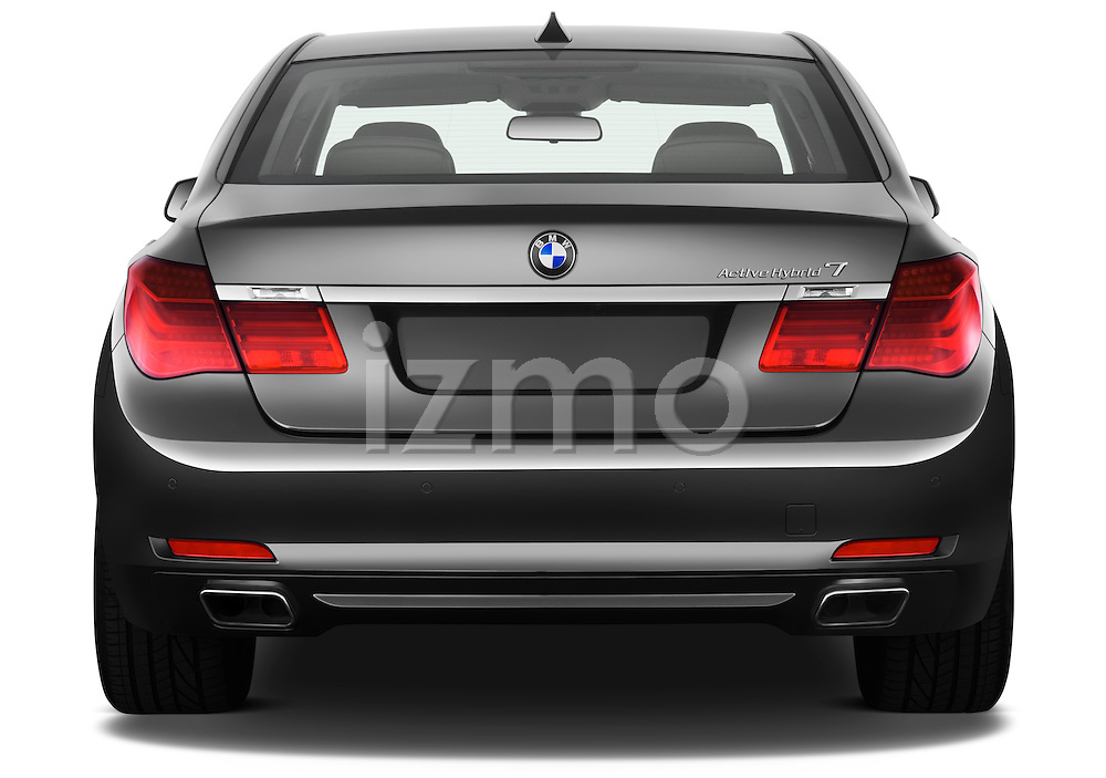 Straight rear view of a 2011 BMW 7 Series Active Hybrid