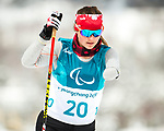 PyeongChang 9/3/2018 - Brittany Hudak, of Prince Alberta, SK, during a biathlon/cross country training session at the Alpensia Biathlon Centre during the 2018 Winter Paralympic Games in Pyeongchang, Korea. Photo: Dave Holland/Canadian Paralympic Committee