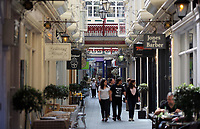 Pictured: Castle Arcade, Cardiff Thursday 25 May 2017<br />