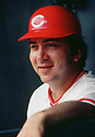 CIRCA 1978:  Johnny Bench #5, of the Cincinnati Reds, at bat during  a game from his 1978 season.  Johnny Bench played for 17 seasons, all with the Cincinnati Reds. Johnny Bench was a 14 -time All-Star, 2-time National League MVP and was inducted to the Baseball Hall of Fame in 1989. (Photo by: 1978  SportPics  )  Johnny Bench