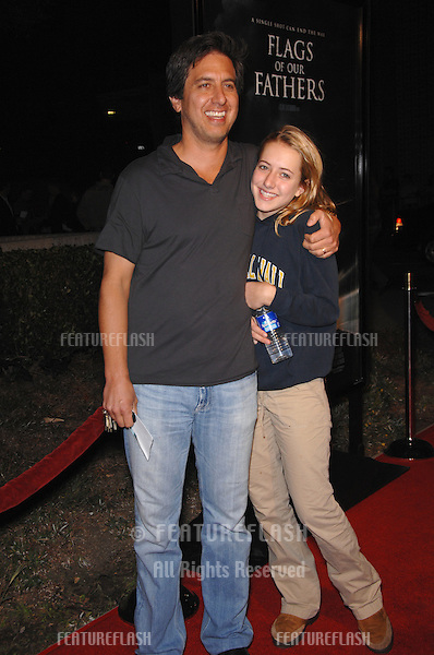 "RAY ROMANO & daughter at the Los Angeles premiere of ""Flags of our Fathers""..October 9, 2006  Los Angeles, CA.Picture: Paul Smith / Featureflash"
