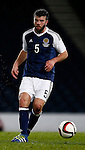 Grant Hanley of Scotland during the Vauxhall International Challenge Match match at Hampden Park Stadium. Photo credit should read: Simon Bellis/Sportimage