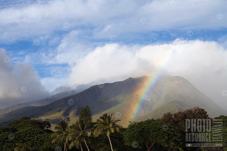 A rainbow at Olowalu, Maui.
