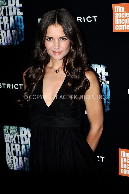 WWW.ACEPIXS.COM . . . . .  ....August 8 2011, New York City....Actress Katie Holmes at the premiere of 'Don't Be Afraid of the Dark' on August 8 2011 in New York City....Please byline: NANCY RIVERA- ACEPIXS.COM.... *** ***..Ace Pictures, Inc:  ..Tel: 646 769 0430..e-mail: info@acepixs.com..web: http://www.acepixs.com
