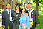 Vassar College graduate from Singapore with  family on.graduation day, May 24, 2009.
