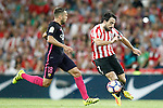 Athletic de Bilbao's Benat Etxebarria (r) and FC Barcelona's Jordi Alba during La Liga match. August 28,2016. (ALTERPHOTOS/Acero)