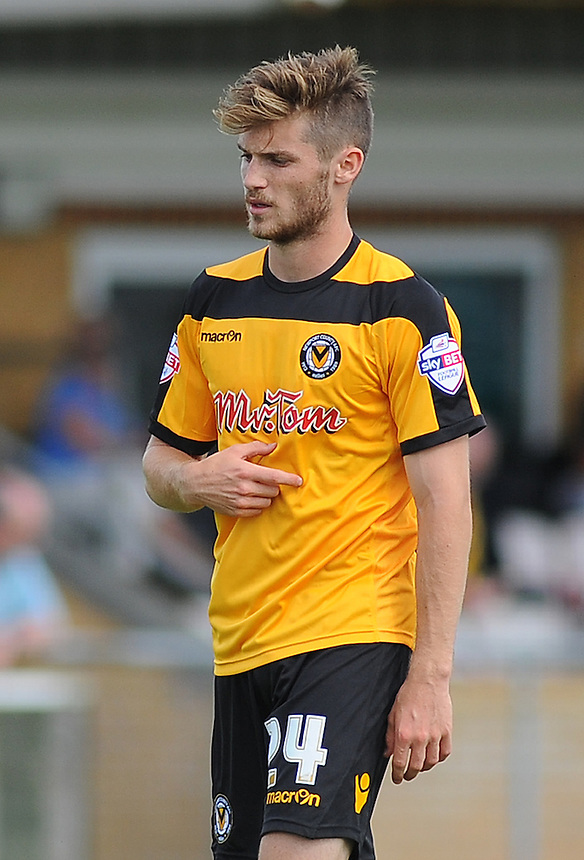 Newport County's Joe Parker in action during todays match  <br /> <br /> Photographer Kevin Barnes/CameraSport<br /> <br /> Football - Pre Season Friendly - Cirencester Town v Newport County AFC - Saturday 12th July 2014 - The Corinium Stadium - Cirencester<br /> <br /> &copy; CameraSport - 43 Linden Ave. Countesthorpe. Leicester. England. LE8 5PG - Tel: +44 (0) 116 277 4147 - admin@camerasport.com - www.camerasport.com
