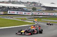 ATENCAO EDITOR: FOTO EMBARGADA PARA VEICULO INTERNACIONAL - SAO PAULO, SP 25 DE NOVEMBRO 2012 - FORMULA 1 GP BRASIL - O piloto alemao Sebastian Vettel da equipe Red Bull durante o Grande Premio do Brasil de Formula 1, no autodromo de Interlagos, zona sul da capital, neste domingo.FOTO: PIXATHLON - BRAZIL PHOTO PRESS