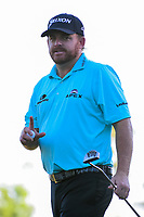 J.B. Holmes (USA) reacts to sinking his putt on 10 during round 2 of the Shell Houston Open, Golf Club of Houston, Houston, Texas, USA. 3/31/2017.<br /> Picture: Golffile | Ken Murray<br /> <br /> <br /> All photo usage must carry mandatory copyright credit (&copy; Golffile | Ken Murray)