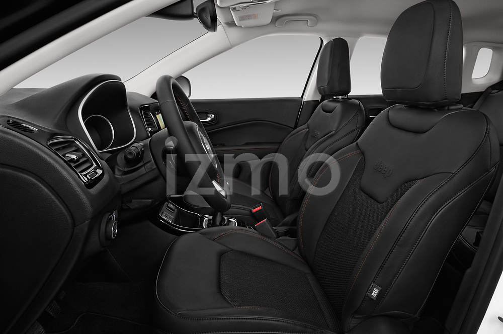 Front seat view of a 2017 Jeep Compass Limited 5 Door SUV front seat car photos