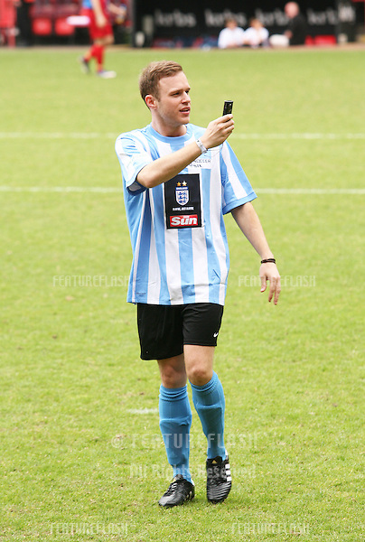 Olly Murs at the Celebrity Soccer Six Tournament 2010 held at The Valley, home of.Charlton Athletic FC..London 31st May 2010.Pictures by Simon Burchell/Featureflash.