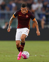 Calcio, Serie A: Roma vs Juventus. Roma, stadio Olimpico, 30 agosto 2015.<br /> Roma&rsquo;s Juan Iturbe in action during the Italian Serie A football match between Roma and Juventus at Rome's Olympic stadium, 30 August 2015.<br /> UPDATE IMAGES PRESS/Riccardo De Luca