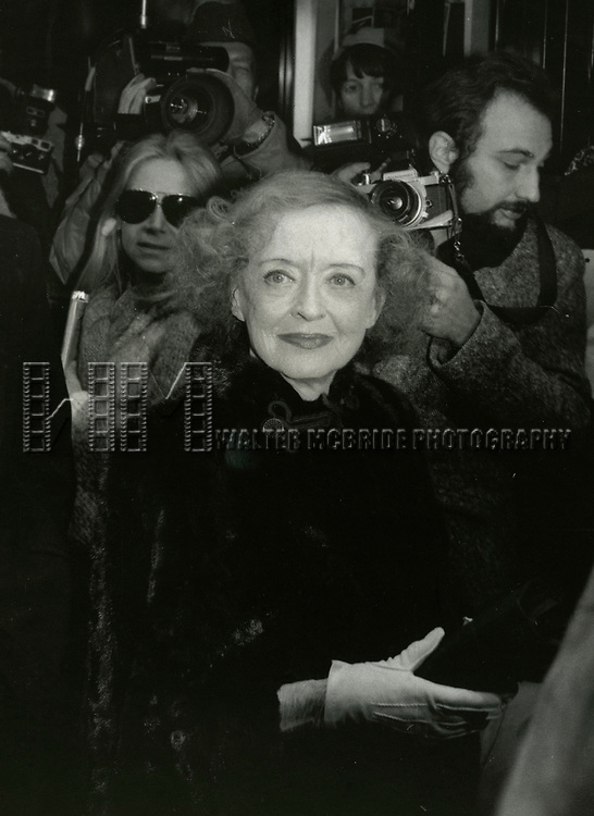 Bette Davis attends &lsquo;The Mirror Cracked&rsquo; Premiere at The Ziegfield Theatre, on December 1, 1980 in<br /> New York City.