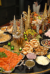 A table of holiday food at the M.D. Anderson benefit held honoring the Fourticqs at their apartment Thursday Dec. 13,2006.(Dave Rossman/For the Chronicle)