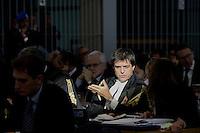 Roma, 24Novembre 2015.<br /> Gianluca Tognozzi avvocato di Giordano Tredicine<br /> Imputati detenuti dietro le sbarre delle celle.<br /> Aula bunker di Rebibbia<br /> Quarta udienza del processo Mafia Capitale, Roma Capitale, avvocati