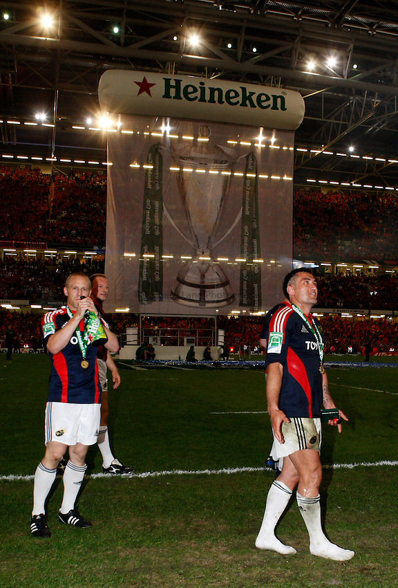 Photo: Richard Lane/Richard Lane Photography. .Munster v Toulouse. Heineken Cup Final. 24/05/2008. .Munster celebration.