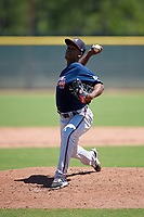 Atlanta Braves pitcher Claudio Custodio (88) during a Minor League Extended Spring Training game against the Tampa Bay Rays on April 15, 2019 at CoolToday Park Training Complex in North Port, Florida.  (Mike Janes/Four Seam Images)