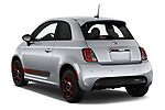 Car pictures of rear three quarter view of 2019 Fiat 500e Battery-Electric 3 Door Hatchback Angular Rear
