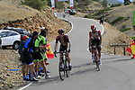 Salvatore Puccio (ITA) Team Ineos and Thomas De Gendt (BEL) Lotto Soudal on the final Cat 1 climb up to Observatorio Astrofisico de Javalambre during Stage 5 of La Vuelta 2019 running 170.7km from L'Eliana to Observatorio Astrofisico de Javalambre, Spain. 28th August 2019.<br /> Picture: Eoin Clarke | Cyclefile<br /> <br /> All photos usage must carry mandatory copyright credit (© Cyclefile | Eoin Clarke)