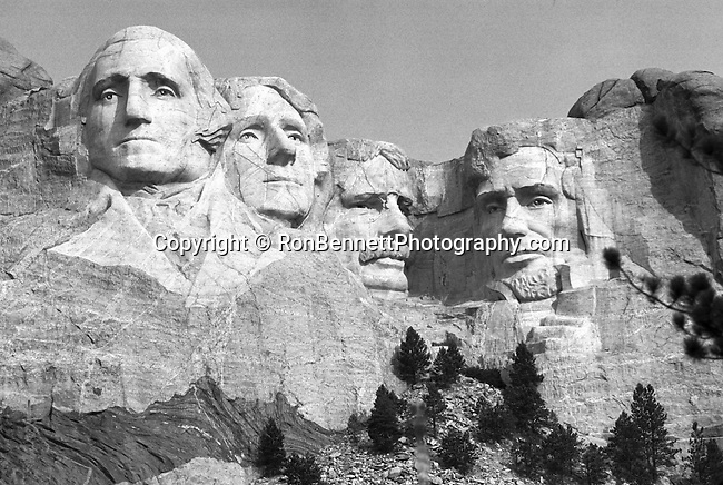 Mount Rushmore National Memorial Keystone South Dakota granite sculpture by Gutzon Borglum Presidential Memorial represents first 150 years of USA Presidents George Washington Thomas Jefferson Theodore Roosevelt Abraham Lincoln in 60 foot sculpture, Mount Rushmore Black Hills South Dakota, Plains States, North Dakota, South Dakota, Bad lands, Blackhills, Mt. Rushmore, Plains States, North Dakota, South Dakota, Bad lands, Blackhills, Black and White Photographs, Black & White Photo's, B&W Photographs,  B&W, Black and White, Fine Art Photography, photography, photo, creative, creative vision, vision, artist, photographs fulfill a creative vision of artist, artist, fine art photographers, fine art photos, fine art photo, art photography, photographers, photography prints, black and white photography, Black and White Photo's, Black and White Pictures, Fine Art Photography by Ron Bennett, Fine Art, Fine Art photography, Art Photography, Copyright RonBennettPhotography.com ©