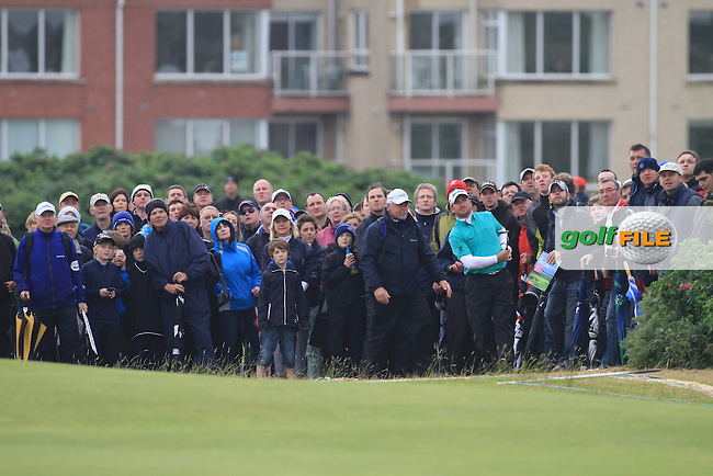 Graeme McDowell (NIR) on the 18th during round 3 of the Irish Open at Royal Portrush GC,Portrush,County Antrim,Ireland. 30/6/12.Picture Fran Caffrey www.golffile.ie