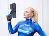 London Super Comic Con<br /> at Design Centre Islington, London, Great Britain <br /> 25th August 2017 <br /> <br /> Fried Fairy <br /> from Kent <br /> <br /> as Samus from Metroid <br /> <br /> <br /> London Super Comic Con plays host to the latest comics, comic related memorabilia, superheroes and graphic novels fans have a chance to interact with their favourite creators, and  exhibitors showcasing items from comics to Cosplay, original art to toys.<br /> <br /> <br /> <br /> <br /> <br /> <br /> Photograph by Elliott Franks <br /> Image licensed to Elliott Franks Photography Services