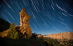 Star Trails Over the Broken Cross Formation