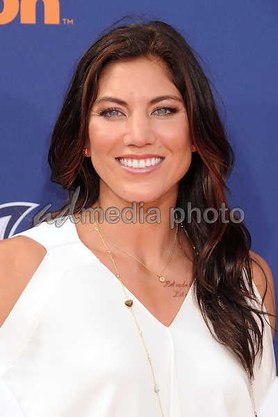 16 July 2015 - Westwood, California - Hope Solo. Nickelodeon Kids Choice Sports Awards 2015 held at the UCLA Pauley Pavilion. Photo Credit: Byron Purvis/AdMedia