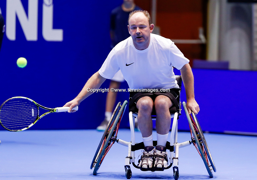 Rotterdam, Netherlands, December 15, 2017, Topsportcentrum, Ned. Loterij NK Tennis, Wheelchair Patrick Elzinga (NED)<br /> Photo: Tennisimages/Henk Koster